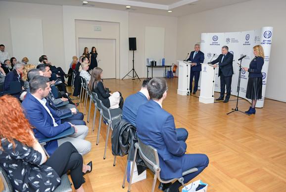 Sajam automobila -Konferencija za medije Dunav osiguranja i Poštanske štedionice