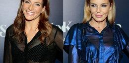 Włodarczyk i Dereszowska w prześwitujących bluzkach. Która wygląda lepiej?