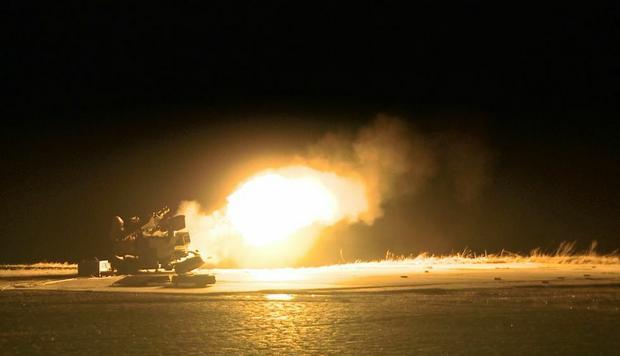 Zestaw przeciwlotniczy Pilica - strzelanie w nocy
