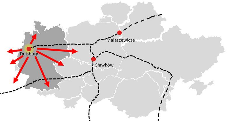 Scenariusz, w którym Polska jest krajem wyłącznie tranzytowym w BRI