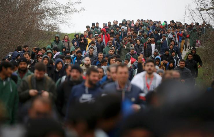 izbeglice, idomeni, reka, ponedeljak