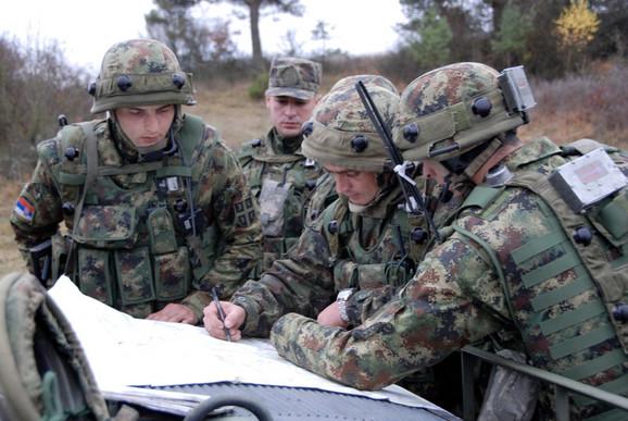 Srpski vojnici u bazi Hoenfels