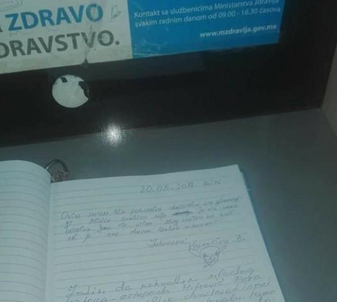 O utisku iz knjige utisaka bruji Crna Gora