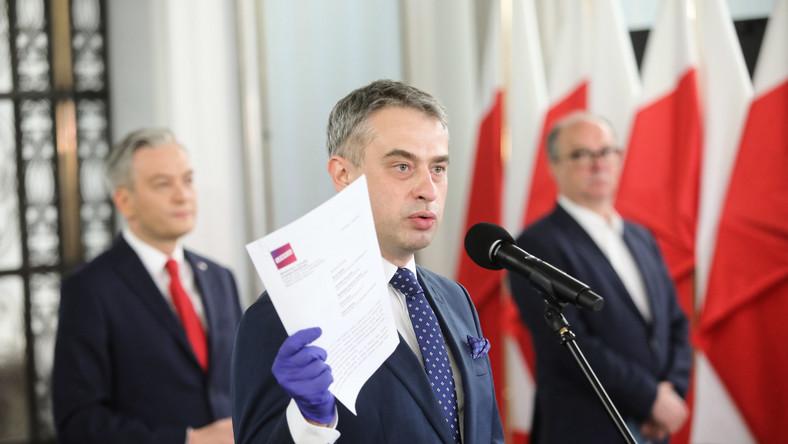 Robert Biedroń, Włodzimierz Czarzasty, Krzysztof Gawkowski