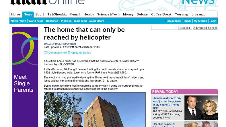 Do domu może się dostać tylko... helikopterem