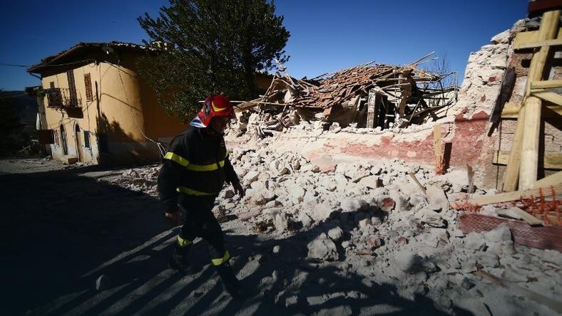 San Pellegrino po trzęsieniu ziemi
