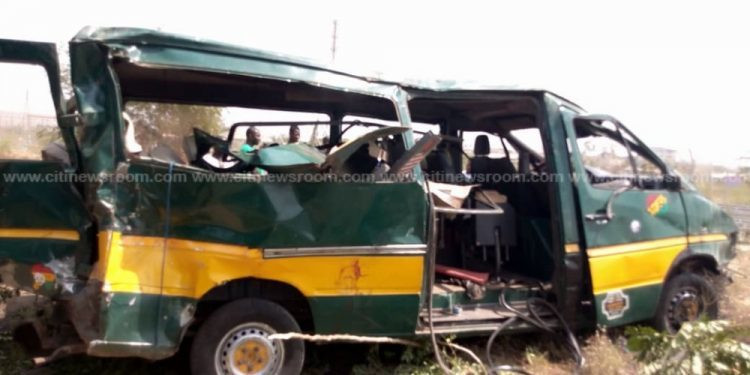The sprinter involved in the crash (credit: citinewsroom)