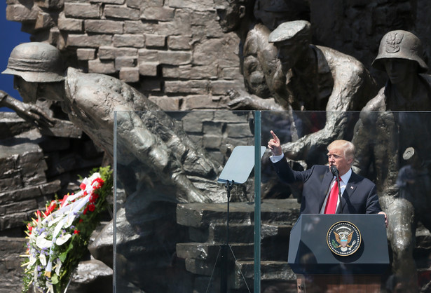 Wystąpienie Donalda Trumpa na Placu Krasińskich w Warszawie