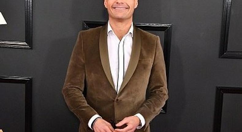 Ryan Seacrest on the Grammys 2017 Red Carpet