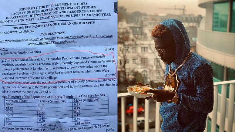 Shatta Wale Ghana is a village statement in UDS exams
