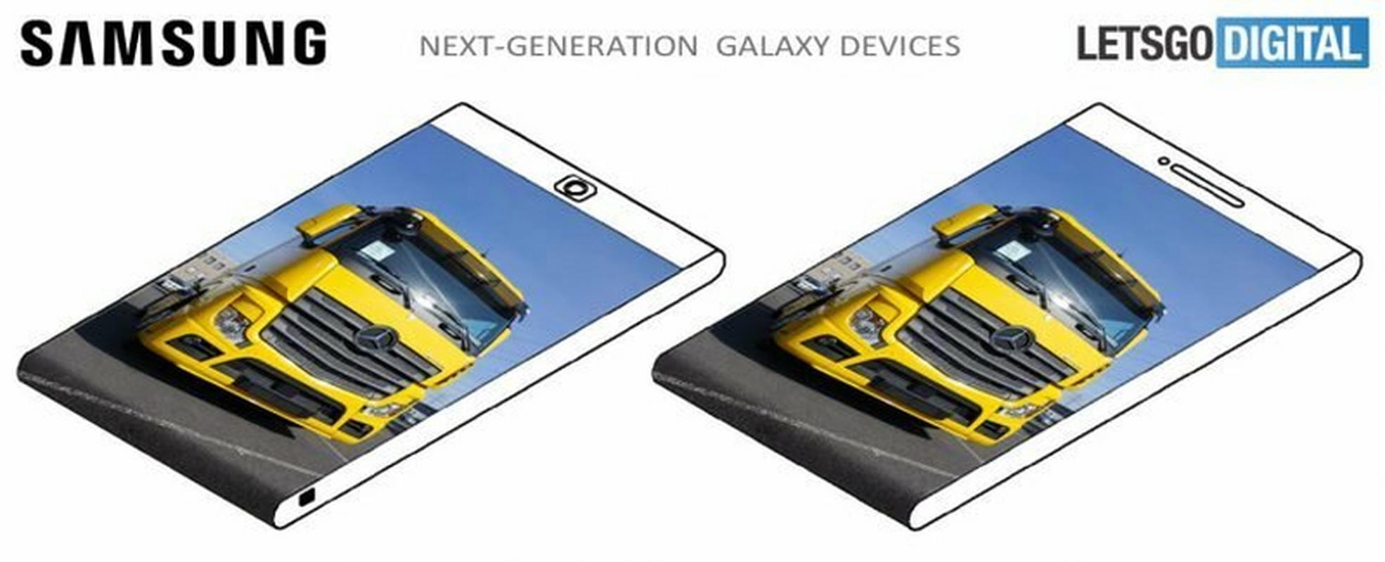 Samsung pokazał też projekt telefonu z ekranem zawijanym na dolnej krawędzi