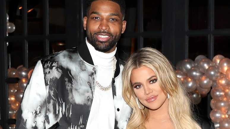 Tristan Thompson and Khloe Kardashian [Glamour]
