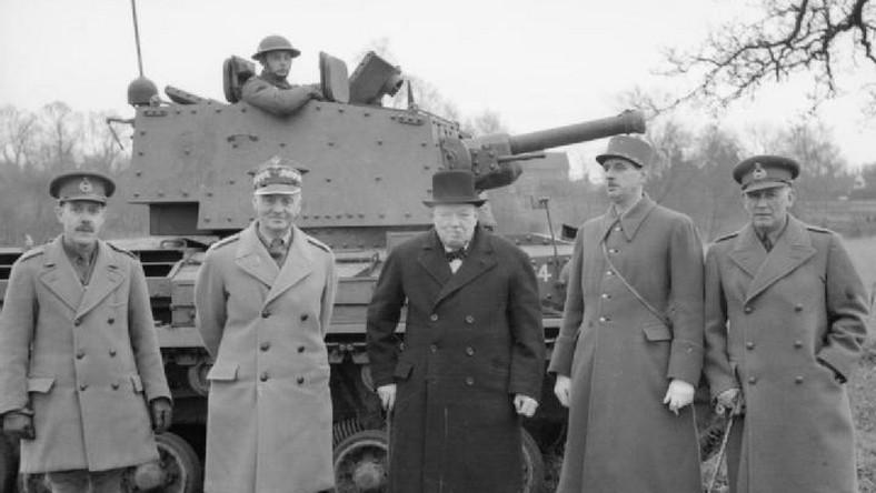 Pierwsi alianci Winston Churchill, Władysław Sikorski oraz Charles de Gaulle