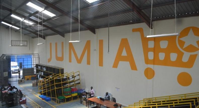 Jumia warehouse in Lagos Nigeria