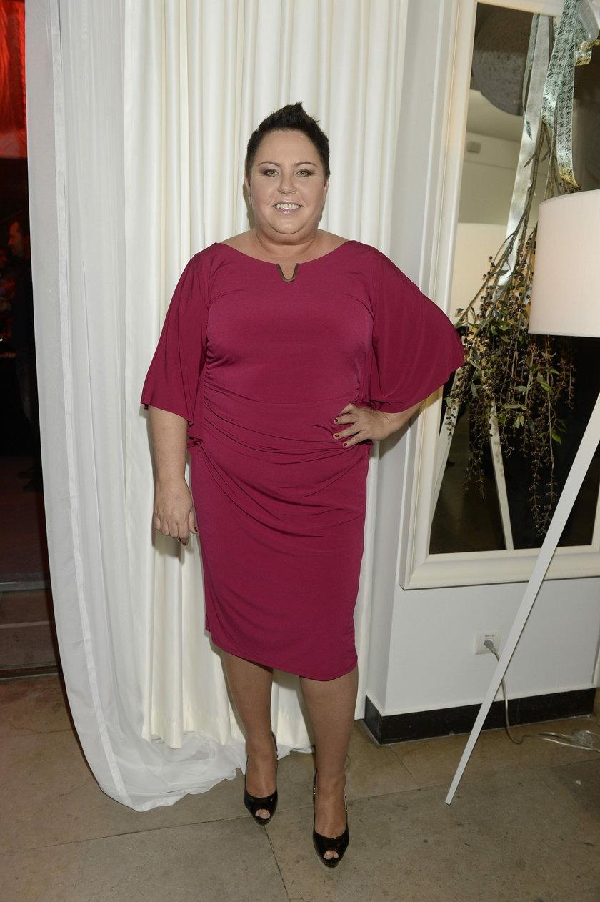 Dorota Wellman w sukience