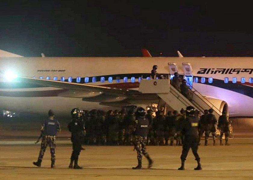 Hijacked plane at Chittagong airport