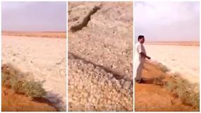 Anomalie pogodowe na Bliskim Wschodzie. Co widzisz na tym wideo?
