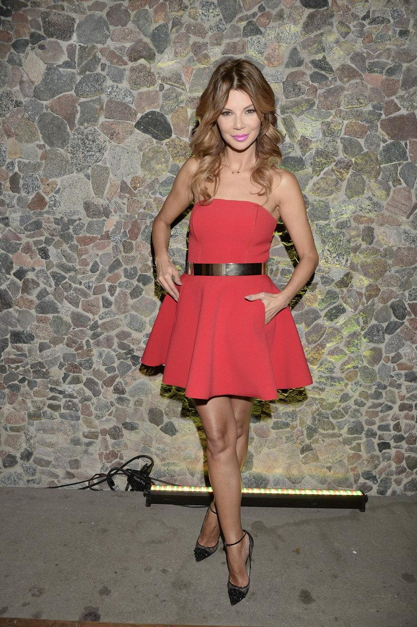 Edyta Górniak w czerwonej sukience