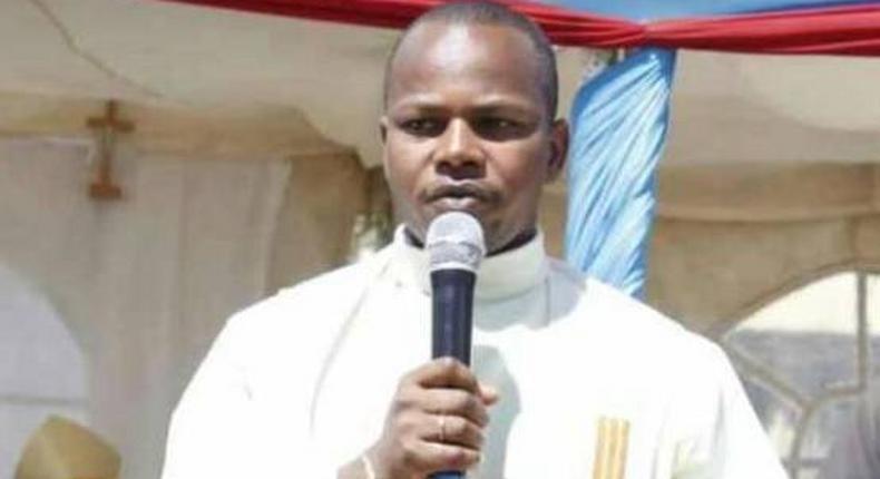 Slain Catholic priest Eutychus Murangiri.