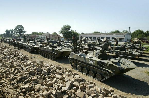 Ruska vojska kod granice s Gruzijom