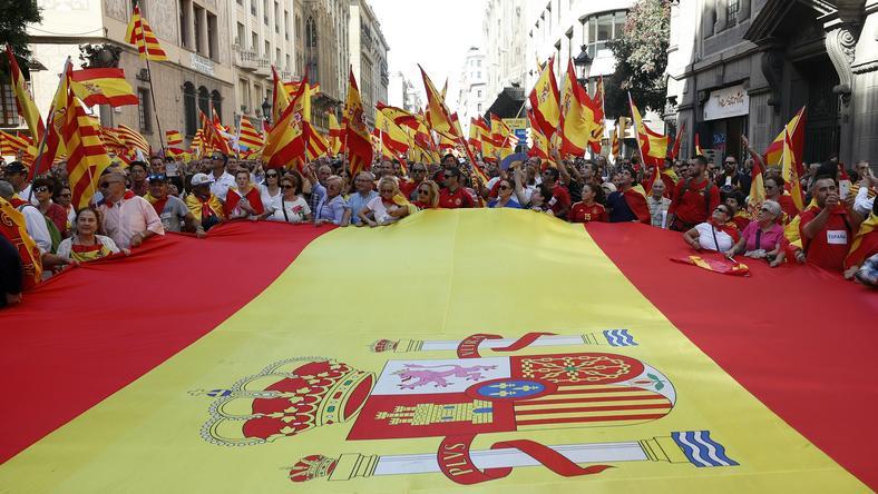 Demonstracja zwolenników jedności Hiszpanii