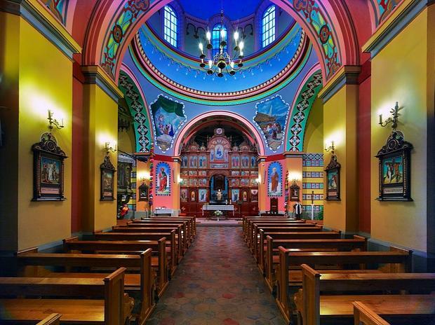 Szlachtowa, kościół w dawnej cerkwi pw. Matki Bożej Pośredniczki Łask