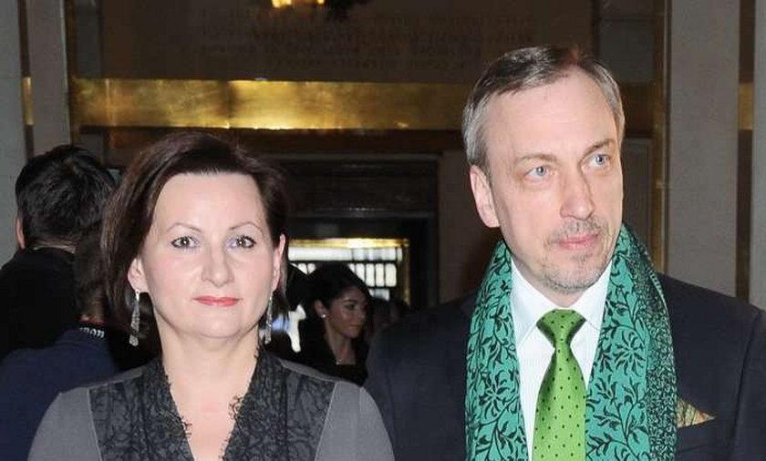 Minister z żoną