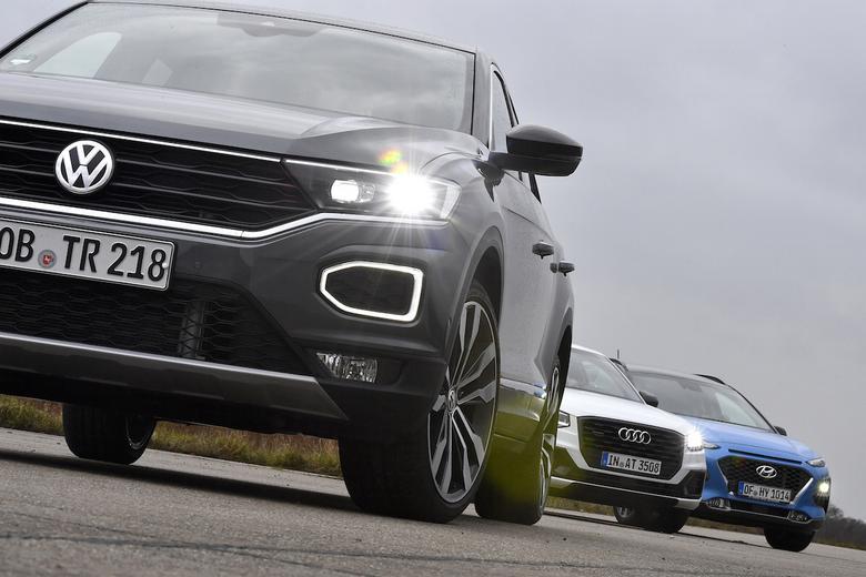 Volkswagen T-Roc kontra Hyundai Kona i Audi Q2