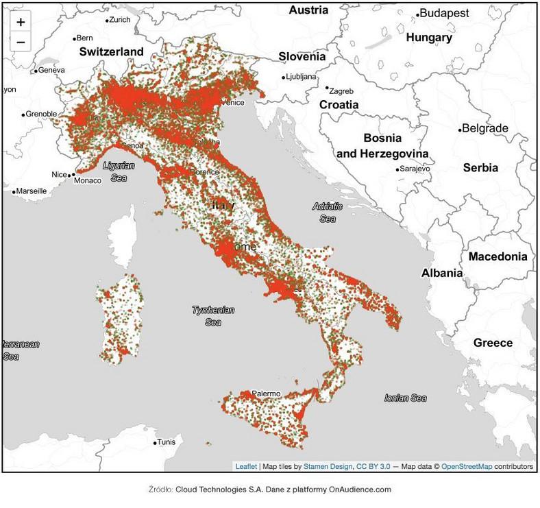 Włochy mapa 1