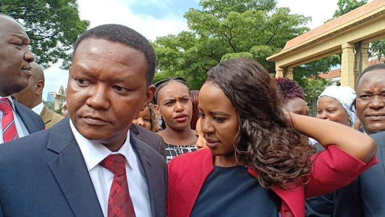 Machakos Governor Alfred Mutua with his wife