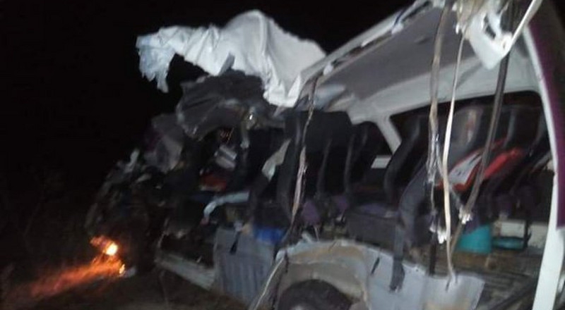 5 Passengers in 14-seater matatu die in grisly accident