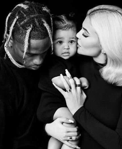 Reports say Travis Scott planned a surprise visit to his baby mama, Kylie, and their daughter but then degenerated into a fight after Kylie had revealed pieces of evidence of him cheating. [Instagram/KylieJenner]