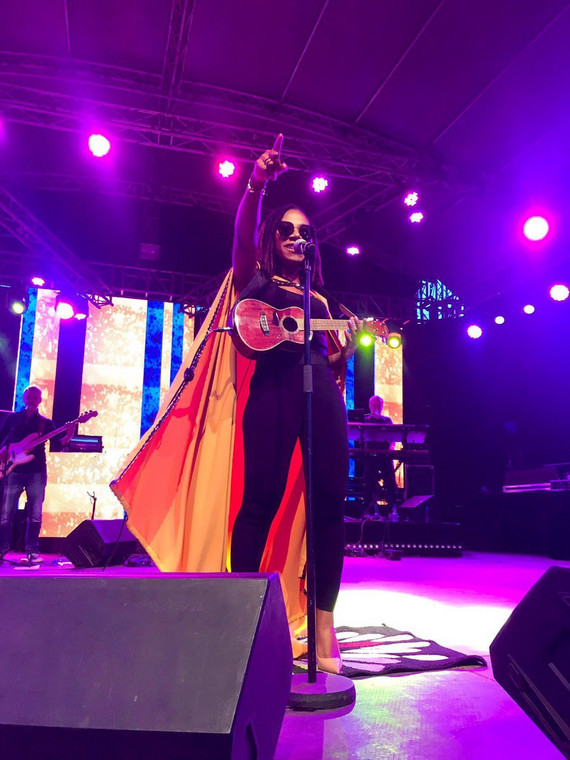 Asa on stage at Koroga Festival (Image by Capital FM Kenya)