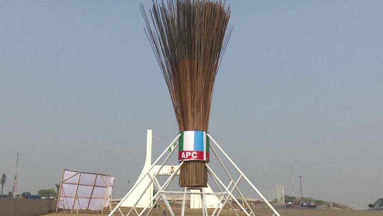 Giant broom at Abuja city gate