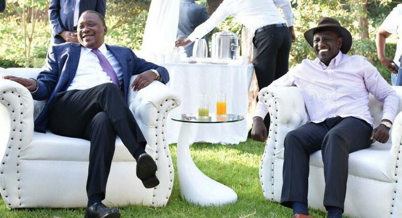 President Uhuru Kenyatta with DP William Ruto on Saturday