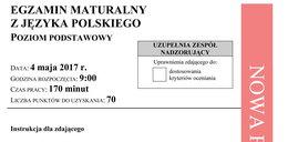 Matura 2017: język polski arkusze i odpowiedzi