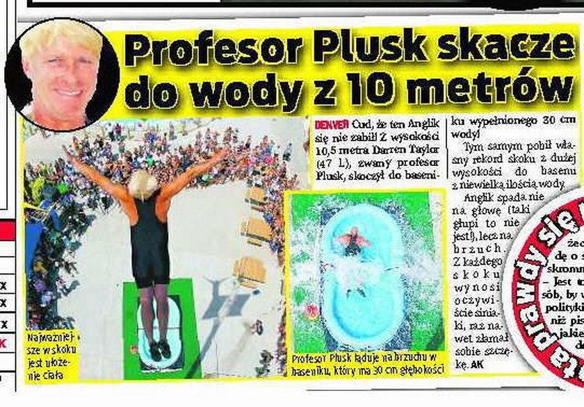 Tak skacze profesor Plusk