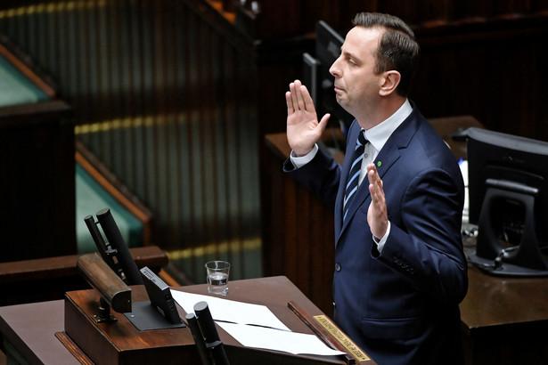 Kosiniak-Kamysz podczas debaty w Sejmie