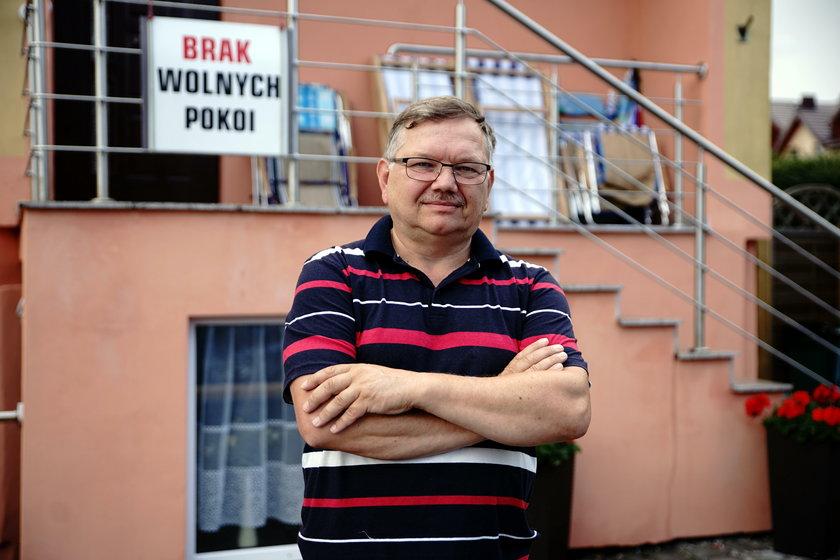 Grzegorz Wzorek (62 l.), prowadzi pensjonat
