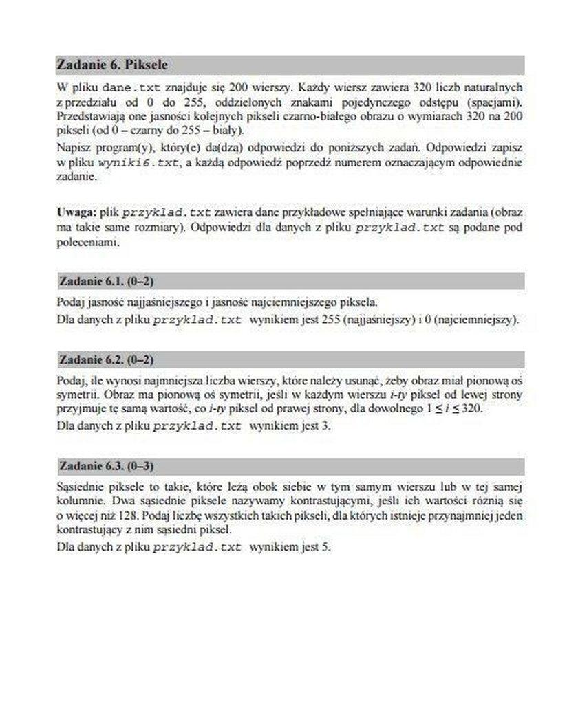 Matura 2017 informatyka