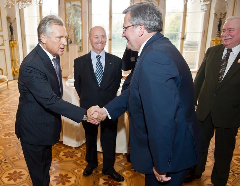 Jacek Pałkiewicz zorganizował spotkanie trzech prezydentów: Lecha Wałęsy, Aleksandra Kwaśniewskiego i Bronisława Komorowskiego