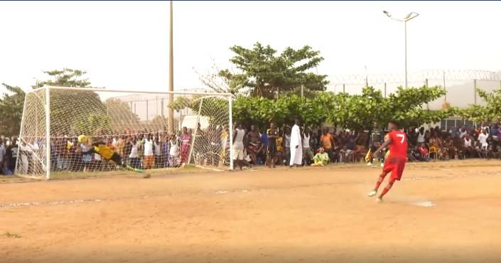 Arhin Aboagye saving a penalty kick