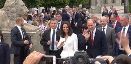 Książę William z księżną Kate u pary prezydenckiej