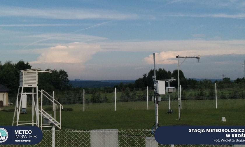 Stacja meteorologiczna w Krośnie, fot. Wioletta Bogaczyk, METEO IMGW-PIB