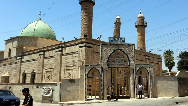 Tak wyglądał meczet Al-Noori Al-Kabeer w Mosulu w 2014 roku
