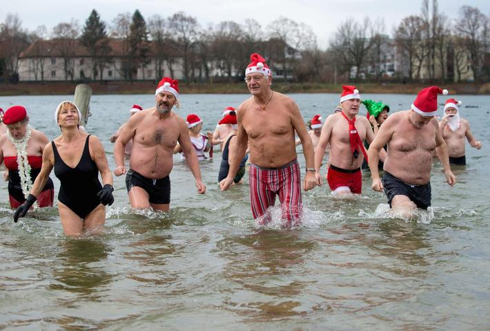 GERMANY TRADITION CHRISTMAS SWIMMING