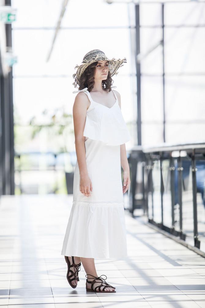 Bela letnja boho haljina, savršena za svaku priliku
