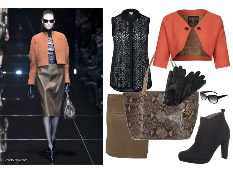 Stylizacją inspirowana kolekcją Gucci