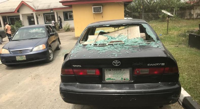 Bayelsa governor-elect, Douye Diri's house was attacked by hoodlums. [Punch]