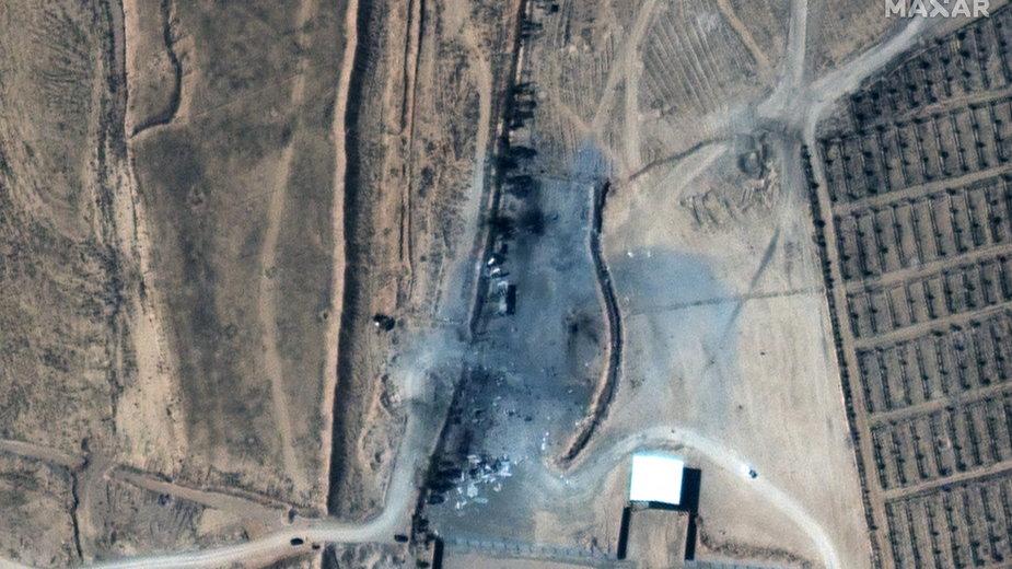 Zdjęcia satelitarne po bombardowaniu